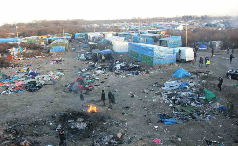 A view of the refugee camp in Calais. Photo: Flickr/ MalachyBrowne