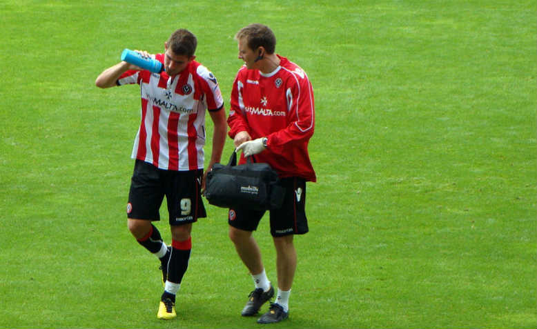 Ched Evans coming off the field, October 2010. Photo: Flickr/ Jon Candy