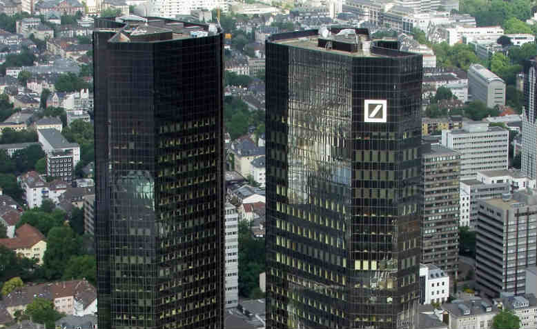 The headquarters of Deutsche Bank in Frankfurt, Germany. Photo: Wikipedia