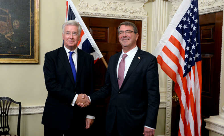 Michael Fallon with US Secretary of Defense Ash Carter at Nato Conference, October 2015. Photo: Wikemedia Commons
