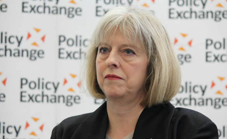 Theresa May as Home Secretary in 2013. Photo: Flickr/ Policy Exchange