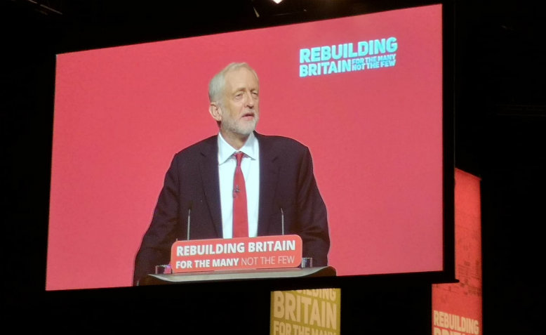 Jeremy Corbyn's leaders speech at Labour Party Conference 2018. Photo: Cathy Augustine