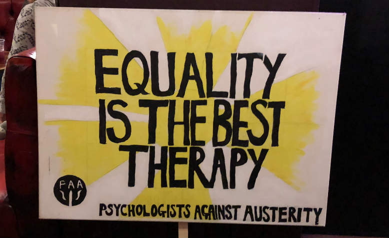 Equality is the best therapy placard, February 2018. Photo: Shabbir Lakha