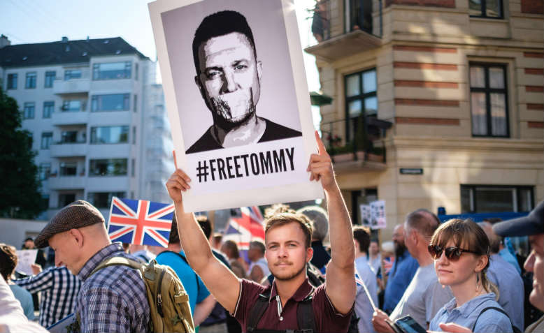 'Free Tommy Robinson' demonstration in Copenhagen, Denmark, 29 May 2018. Photo: Flickr/Kristoffer Trolle