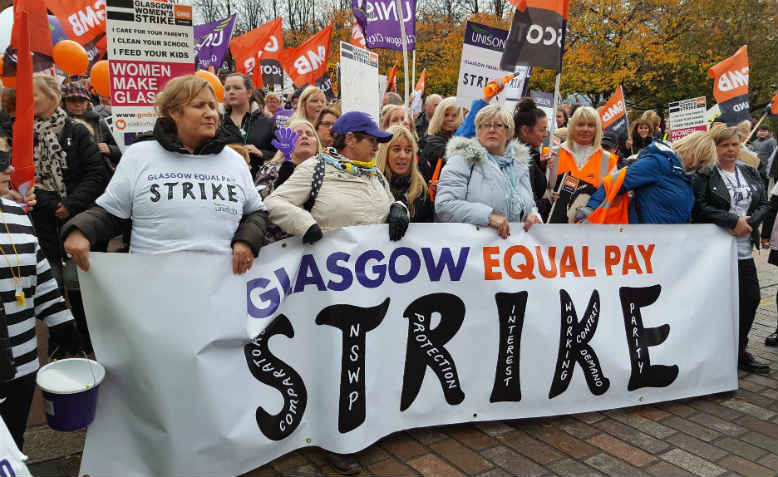 Glasgow women's strike, October 23rd, 2018. Photo: Twitter/@HelenLMeldrum