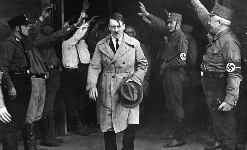 Hitler leaving the Nazi party headquarters in Munich on 5 December 1931. Photo: Flickr