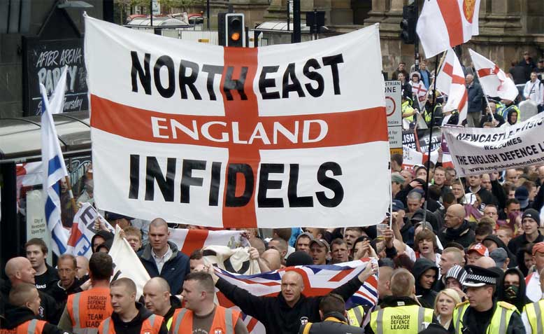 EDL march in Newcastle 2010. Photo: Lionheart Photography