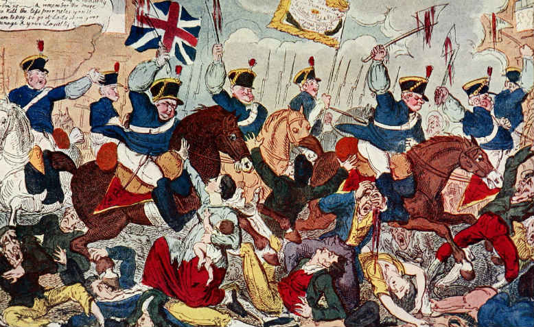George Cruikshank's The Massacre of Peterloo
