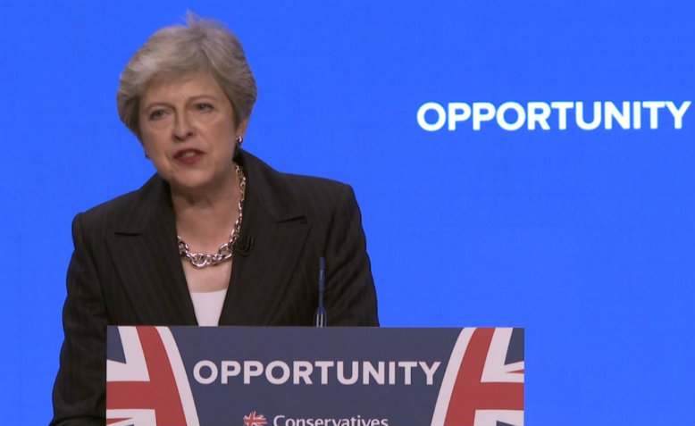 Theresa May's leader's speech at Conservative Party Conference 2018. Photo: YouTube