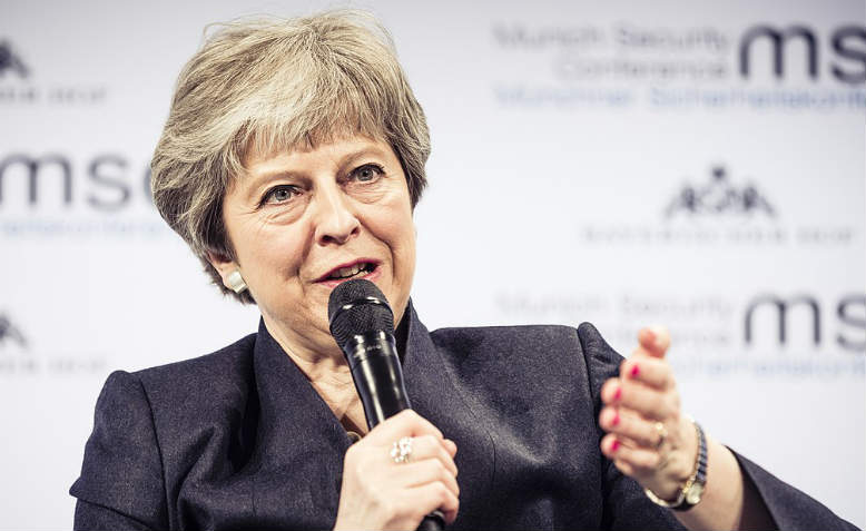 Theresa May, February 2018. Photo: Wikimedia Commons