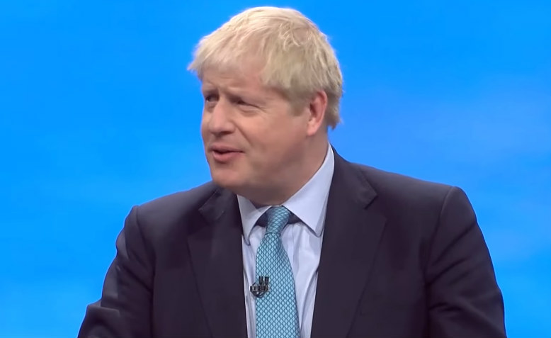 Boris Johnson speaking at Conservative Party Conference 2019. Photo: YouTube
