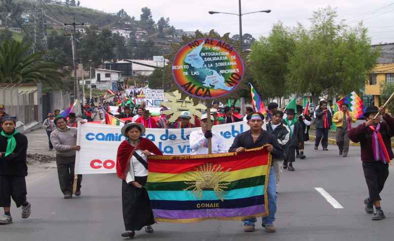 Conaie march, Quito. Photo: wikimedia commons