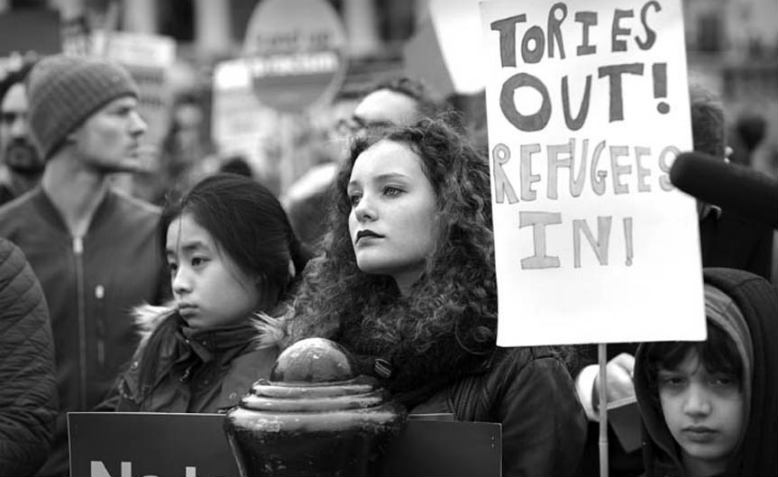 Tories Out, Refugees In. Photo: Jim Aindow