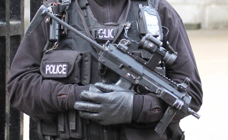Armed police. Photo: Tom Hisgett / Wikimedia Commons / CC BY 2.0, license linked at bottom of article