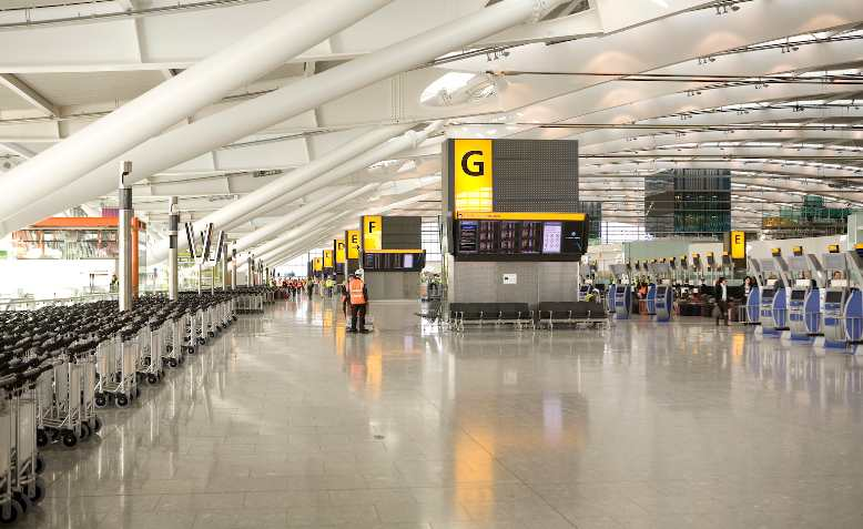 Heathrow Terminal 5 Check-in. Photo: Terminal 5 Insider / Wikimedia Commons / CC BY 2.0, license linked at bottom of article