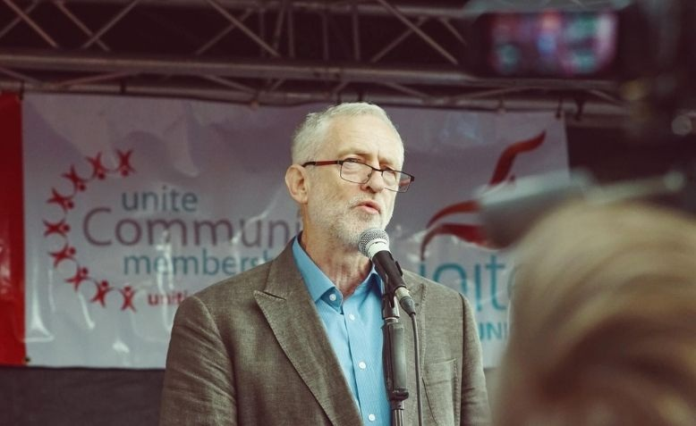 Jeremy Corbyn speaking at Cable Street 80th anniversary celebrations