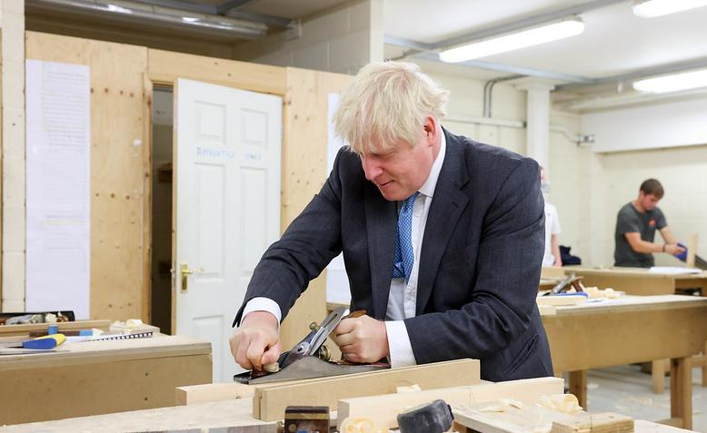Boris Johnson at Exeter College Construction Centre