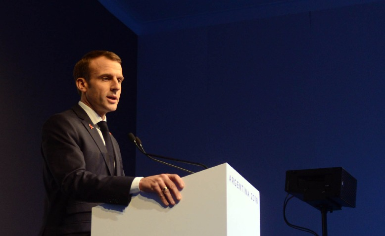 Emmanuel Macron. Photo: G20 Argentina / Wikimedia Commons / cropped from original / CC BY 2.0, license linked at bottom of article