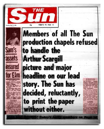 Front Page of Sun