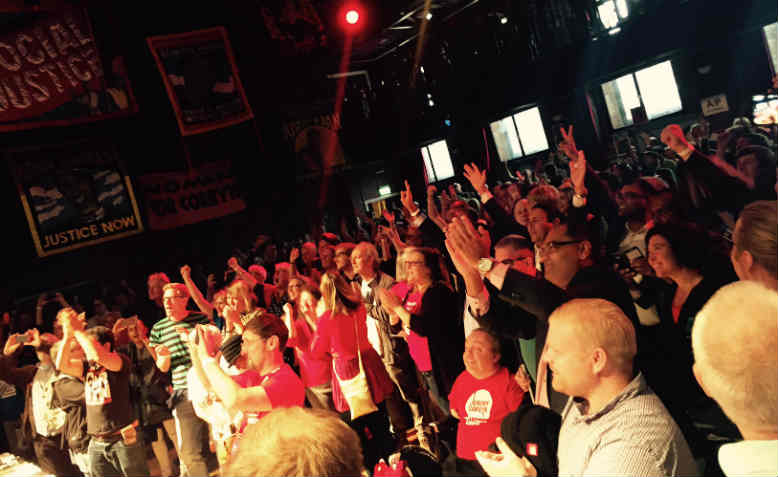 The crowd at the Momentum event, Liverpool, 24 September 2016. Photo: Chris Nineham