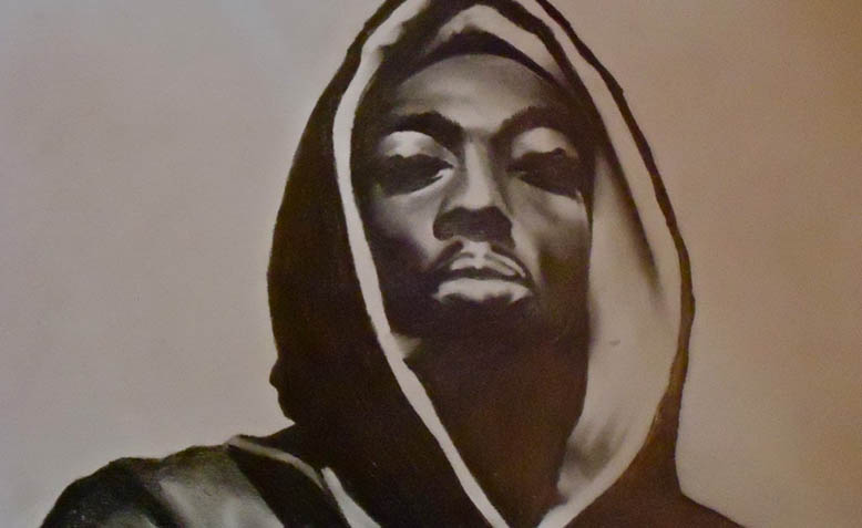 Drawing of Tupac Shakur. Photo: Wikipedia
