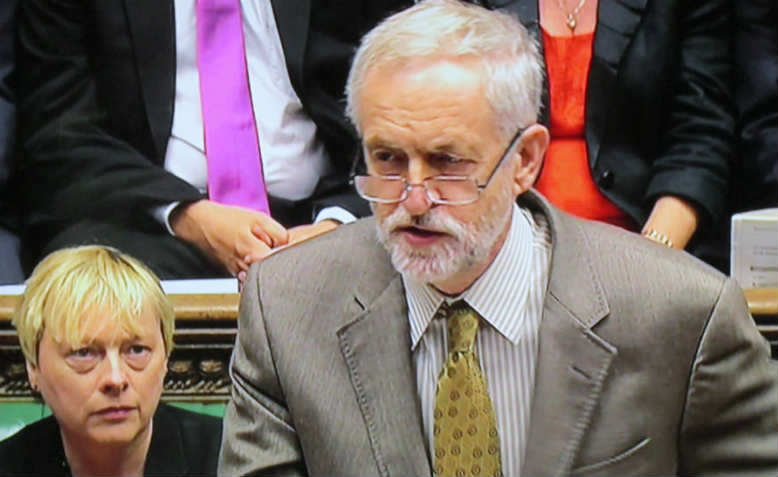 Jeremy Corbyn during PMQs. Photo: Flickr/ David Holt