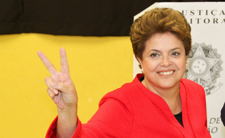 Dilma Rousseff in happier times, Porto Alegre, 2010. Photo: Flickr