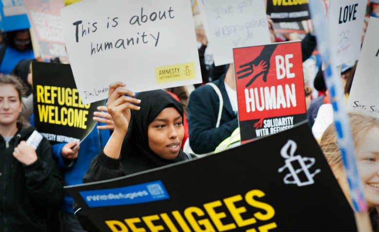 Solidarity with Refugees demo, 17 September 2016. Photo: Jim Aindow