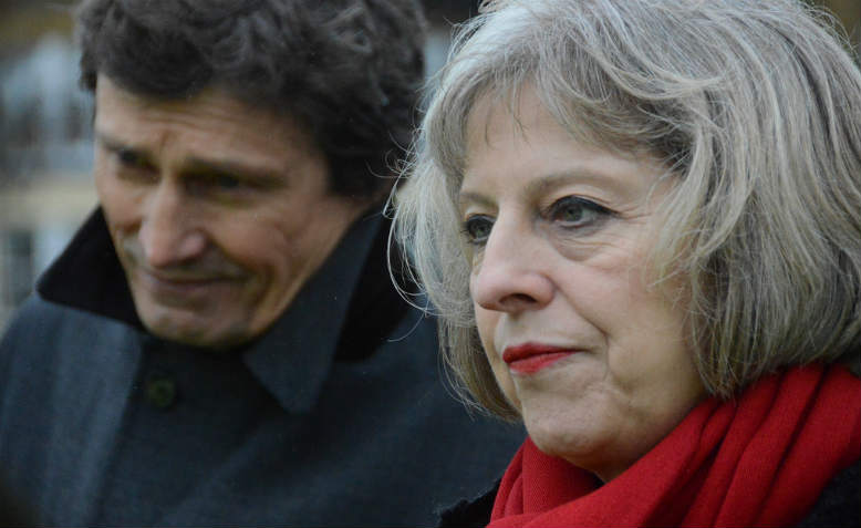 Prime Minister Theresa May acting as Home Secretary at Hampton Court, 2014. Photo: Flickr/ Surrey County Council News.