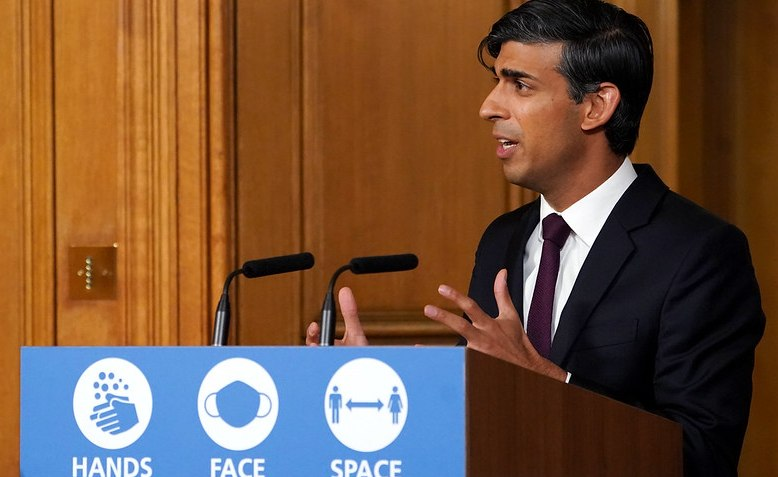 Rishi Sunak holds a Covid-19 Press Conference in 10 Downing Street. Photo: Pippa Fowles / Flickr - No 10 Downing Street / cropped from original / licensed under CC 2.0, links at the bottom of article