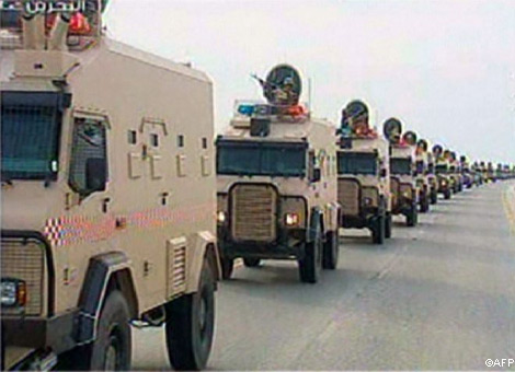 Saudi troops enter Bahrain