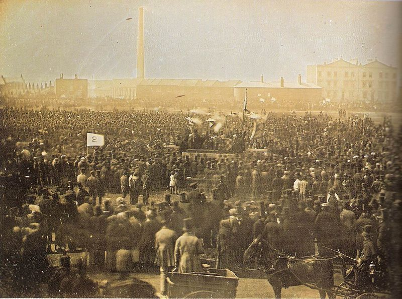 Chartist meeting on Kennington Common