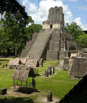 Maya pyramid at Tikal