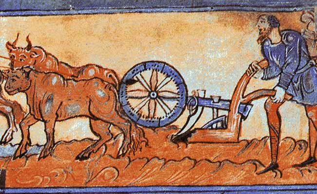 A medieval heavy plough