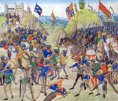 Battle of Crécy - a triumph of peasant-archers over feudal knights