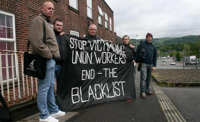 Construction workers campaign against the Blacklist