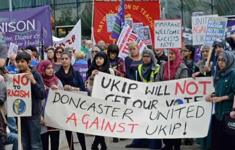Ukip protesters