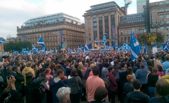 George Square 17 September. Photograph: Chris Walsh