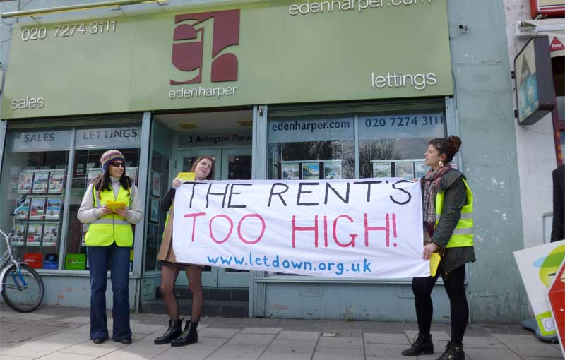 Rent too high in london