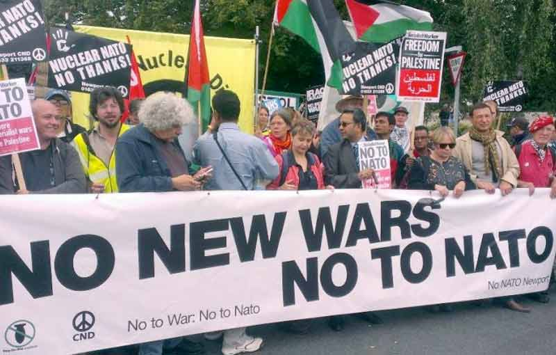 No to Nato protest