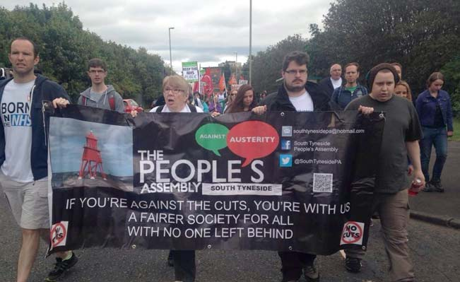 People's Assembly supporters on the People's March for the NHS