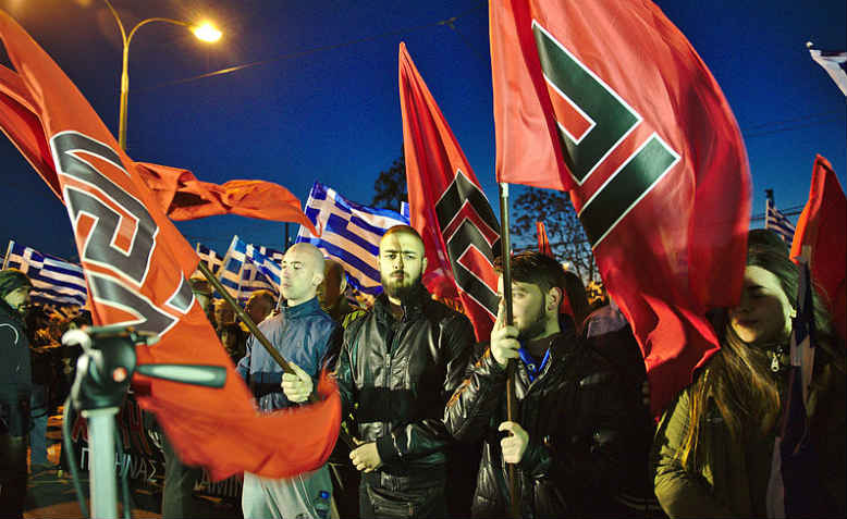Golden Dawn rally, Athens, 2015. Photo: wikimedia commons