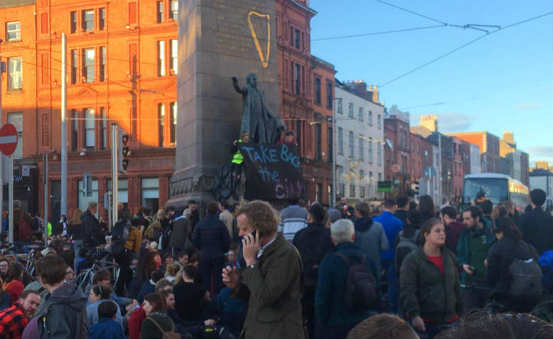 Housing Protest in Dublin, September 12th 2018. Photo Josh Newman