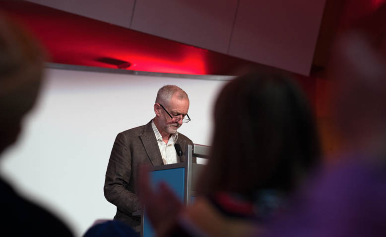 Jeremy Corbyn speaking at '15 Years On: Time To Stop The War', October 2016. Photo: Jim Aindow