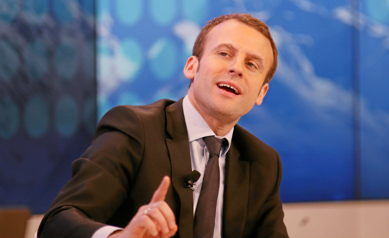 Emmanuel Macron at at the Annual Meeting 2016 of the World Economic Forum in Davos, Switzerland, January 22, 2016.