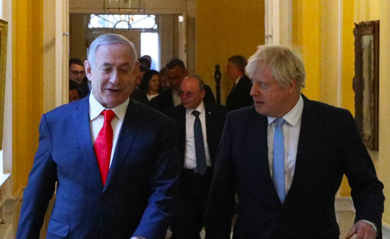 Boris Johnson meets Benjamin Netanyahu. Photo: Flickr/Number 10
