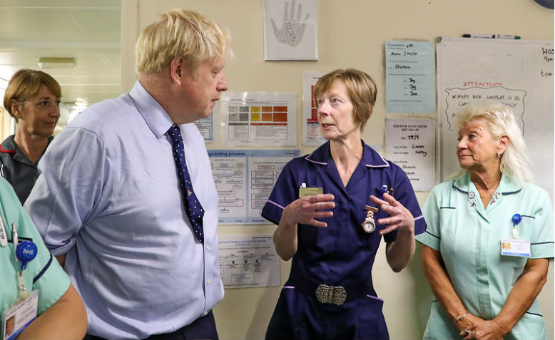 Boris Johnson in hospital
