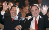 Hugo Chavez with Oliver Stone