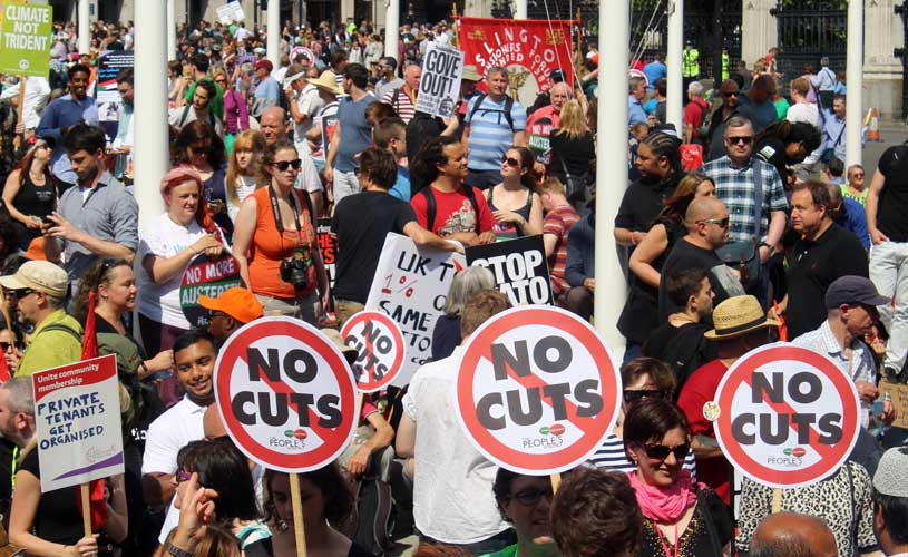 National Demonstration Against Austerity. Photo:  Marienna Pope-Weidemann