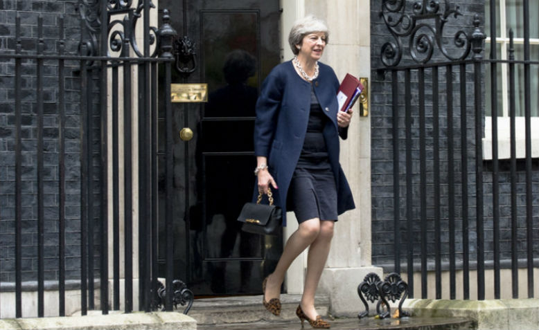 Theresa May leaving Downing Street. Photo: Flickr via Number 10